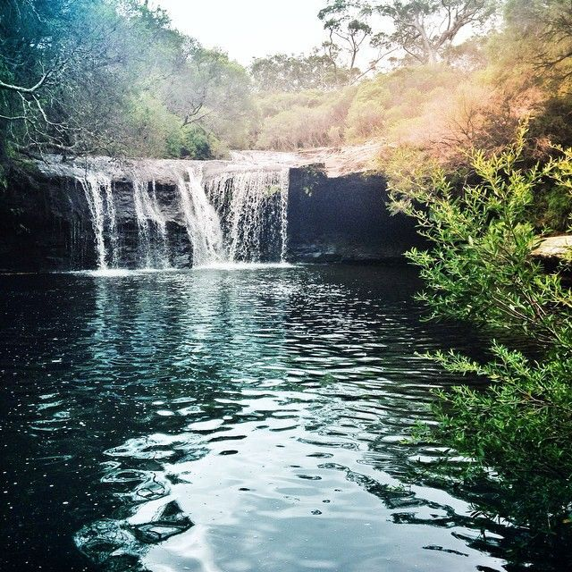 Picnicking at this perfect spot with my Chinese students who are here for a farm stay #nelliesglen #waterfall