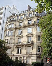 Le dernier domicile de Maria Callas 36 avenue Georges Mandel