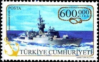 "Pul: Frigate ""Karadeniz"" (F-255) (Türkiye) (Navy Ships) Mi:TR 3359 2003"