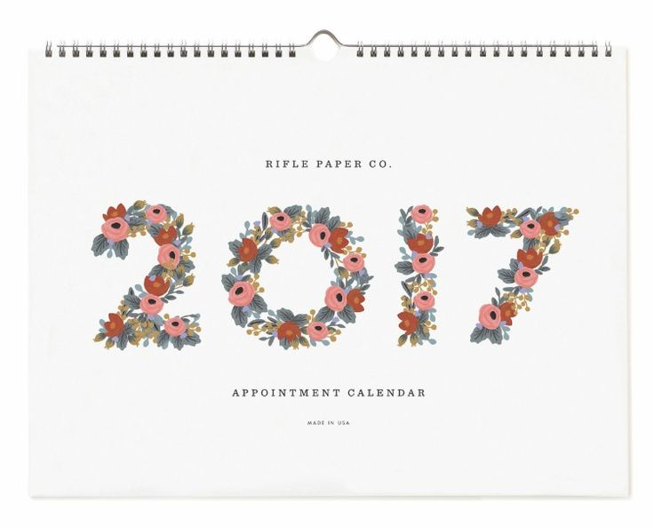 2017 Rifle Paper Co. Appointment Calendars, designed by Anna Bond.  Available at Northlight soon.
