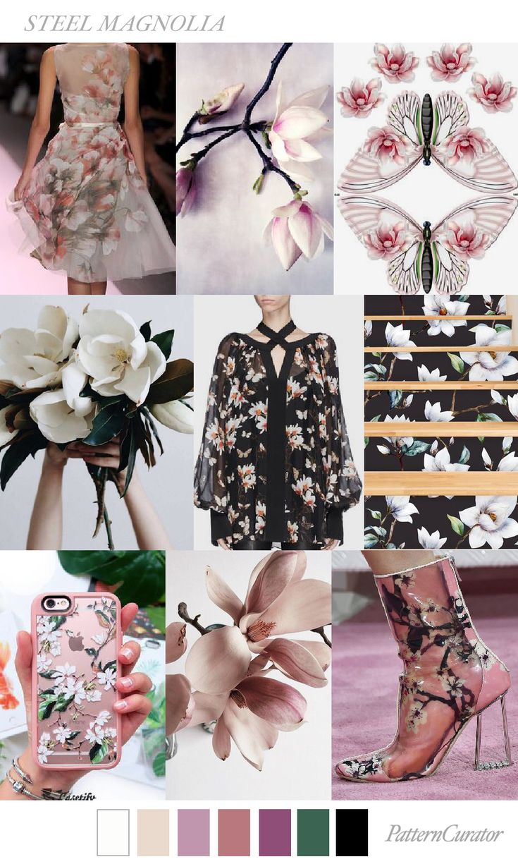 Steel Magnolia | PatternCurator | Style Color Palettes | Colour | Fashion Color Palettes | Mood Boards | Color Inspiration | Personal Style Online | Online Fashion Stylist | Fashion For Working Moms & Mompreneurs