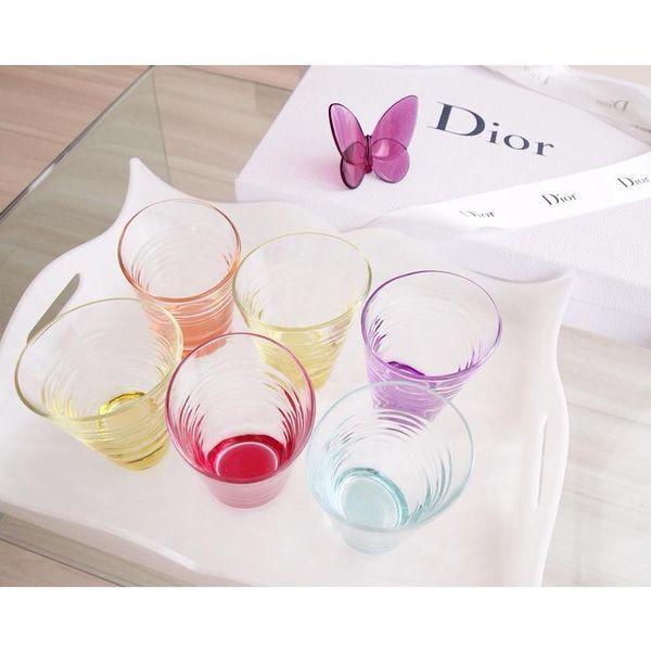 色とりどりのグラスがおしゃれ♡Diorのグラス♪結婚式で人気の引き出物まとめ♡参考にしたいウェディング・ブライダル♪