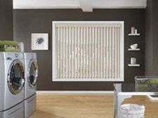 Vinyl blinds are the bomb for laundry rooms where humidity and moisture can warp or damage other materials.