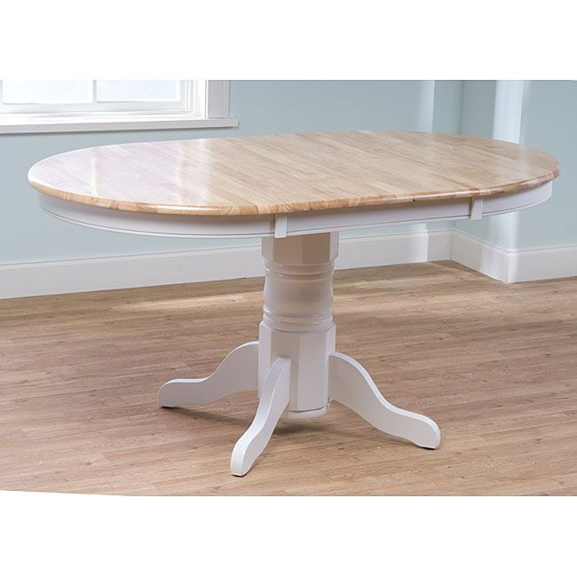 Farmhouse Table Will Add A Touch Of Country Appeal To Your Dining Room Or  KitchenSingle Pedestal Leg Table Has A Round Table Expandable To 60  InchesDining ...