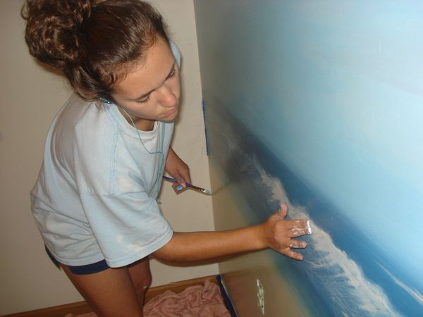 Beach Mural by Janelle Parson, via Behance