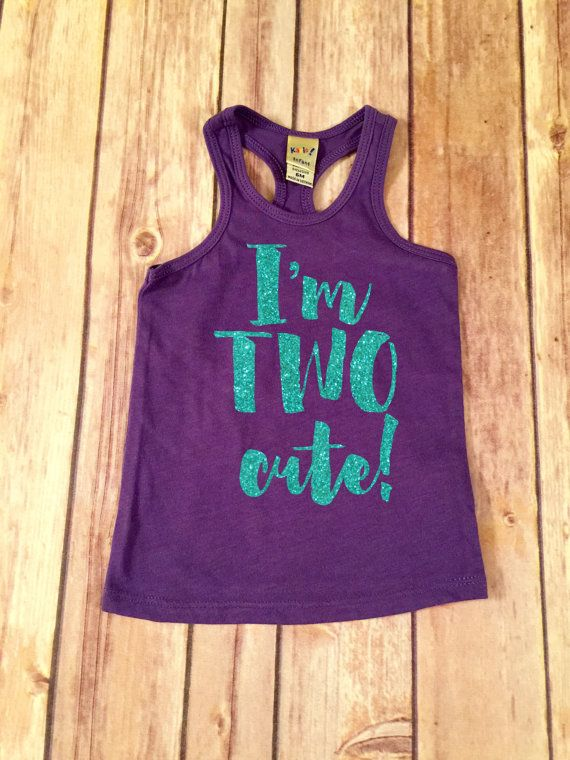 Hey, I found this really awesome Etsy listing at https://www.etsy.com/listing/240321737/im-two-cute-second-birthday-racerback