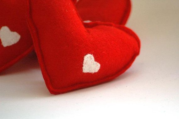 Red Heart with white mini heart detail  by TheNataleStore on Etsy, $8.70