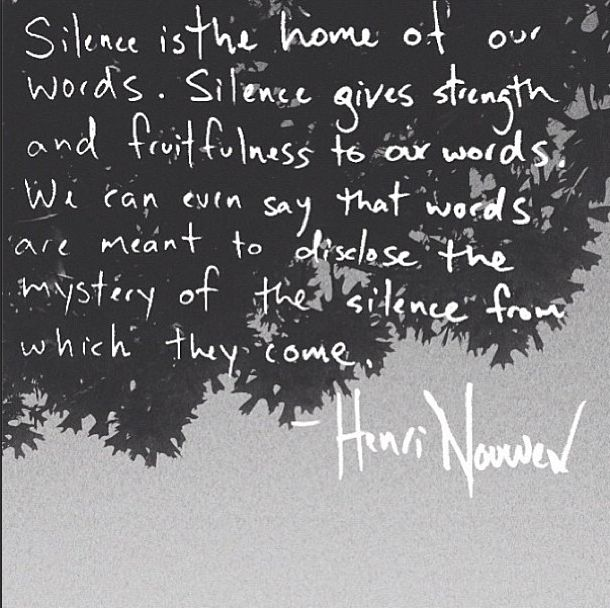 Silence - Henri Nouwen                                                       …