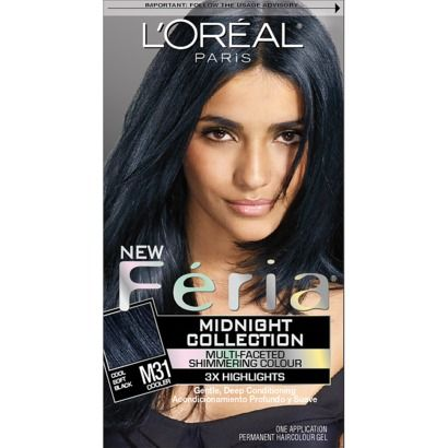 L'Oreal Paris Feria Hair Color Midnight Collection - Cool Soft Black $8.99