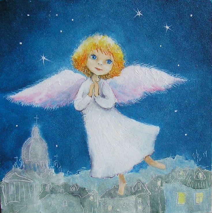 Рождественские ангелы рисунки