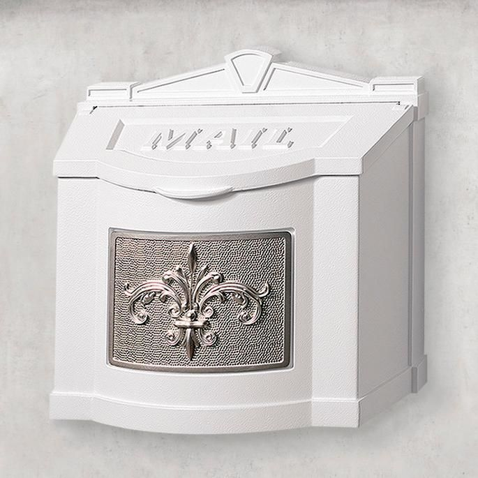 Fleur De Lis Wall Mount Mailbox In 2020 Mounted Mailbox Wall