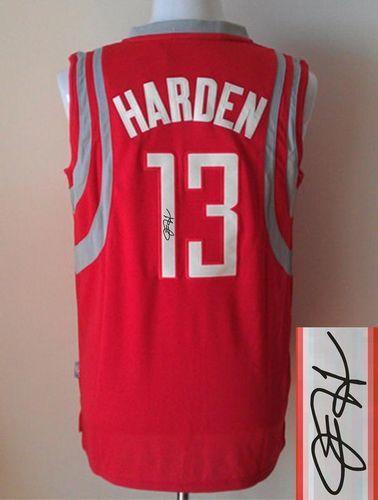 c1cc025ec Revolution 30 Autographed Rockets  13 James Harden Red Stitched NBA Jersey