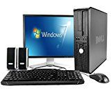 "#9: Dell Desktop Computer Package with WiFi Dual Core 2.0GHz 80GB 2GB Windows Professional 17"" Monitor Keyboard Mouse Speakers (Certified Refurbished)"