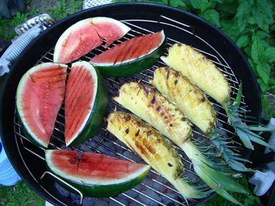 Watermelon and pineapple steak