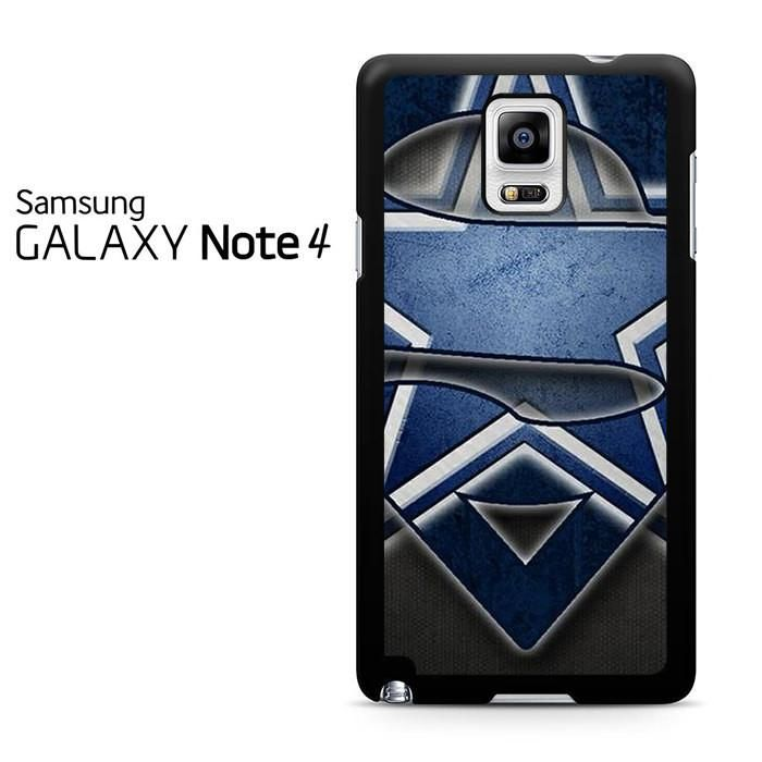 Dallas Cowboy Superman Logo Mid Samsung Galaxy Note 4 Case