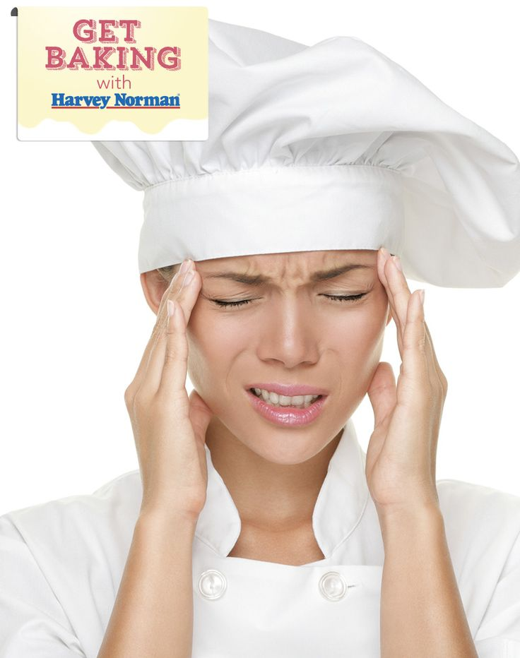 Does the thought of baking give you a headache? Share in the comments & show us here http://apps.facebook.com/harveynormanbaking #GetBaking