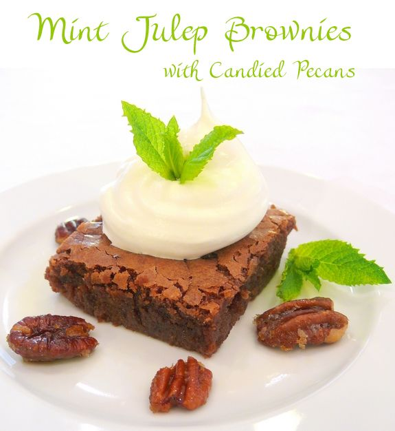 Mint Julep Brownies recipe by noblepig.com These look delicious and fairly simple to create! Who doesn't love bourbon and chocolate?