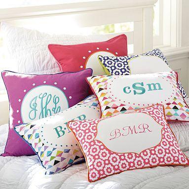 Abby Monogram Pillow Cover #pbteen