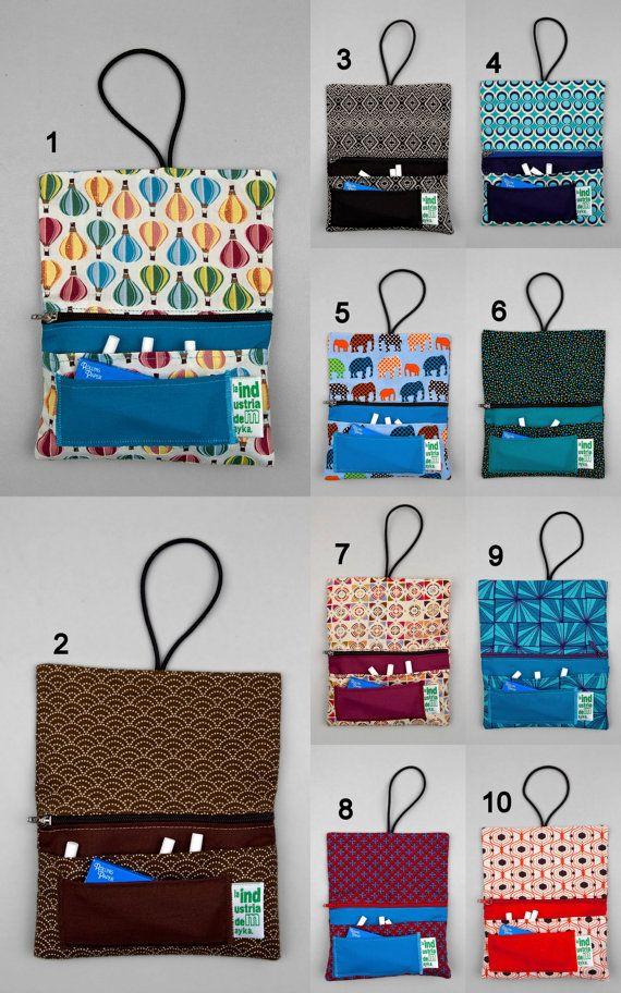 2 Rolling tobacco pouches handmade fabric by LaIndustriaDeMayka, €23.95