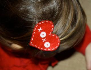 DIY hair clip  Valentine's Day hair clips