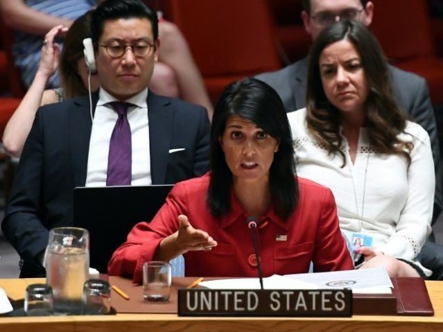 Image result for US to vote against blockade at UN viki haley