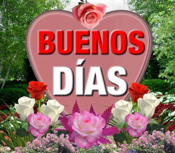 Buenos Días imagen #9587 - Buenos Días - Corazón, Flores, Rosas. Imágenes y fotos de 'Buenos Días' con frases para facebook, whatsapp y twitter.