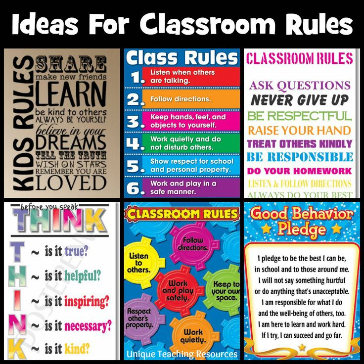 Modern Classroom Rules ~ Best back to school projects and bulletin board