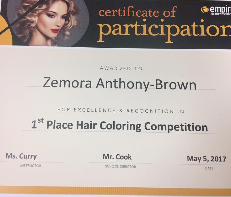 My award (RECAP OF YESTERDAY)Running late for school this morning and Forgot that we had a competition in class. Luckily I finished my color yesterday! But she had to be styled. My teacher told me I had 30 minutes until judging time ������ Can you say panic? ���� did this in about 28 minutes AND CAME IN FIRST PLACE!!! My skills were put to the test today and I prevailed #slay #slaynosanta #curls #haircolor #hairstyles #hair #hairdresser #newarknj #essexcounty #godfirst #everythingelsesecond…