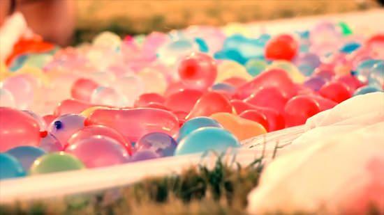 Waterballonnen gevecht