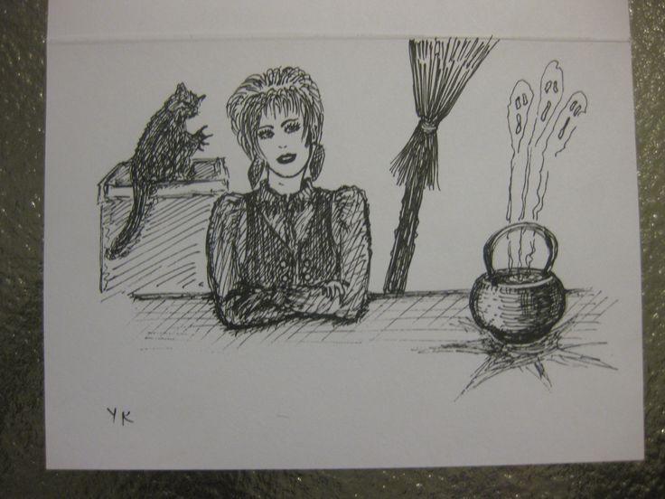 pen ink on card