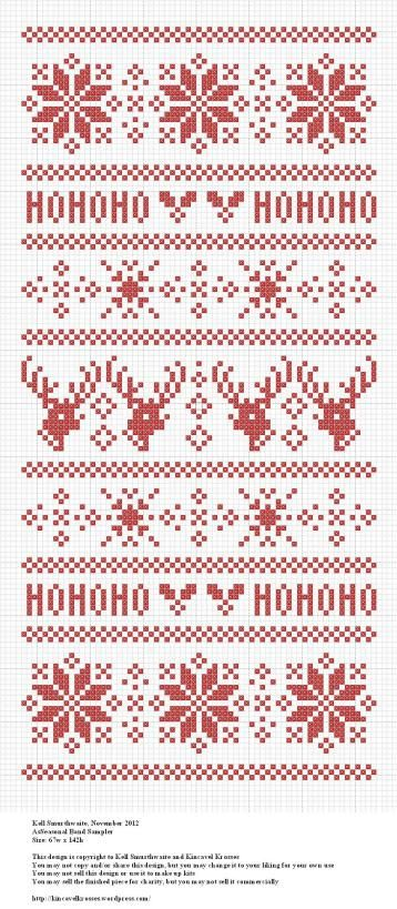 Seasonal Band Sampler, designed by @Kell Smurthwaite from Kincavel Krosses.