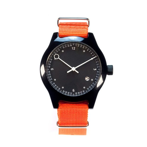 Minuteman Watch, Two Hand, Black
