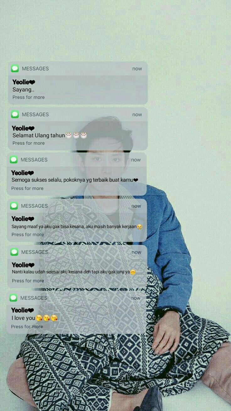 Fake Chat Lockscreen Chanyeol Teks Lucu Tumblr Lucu Imajinasi