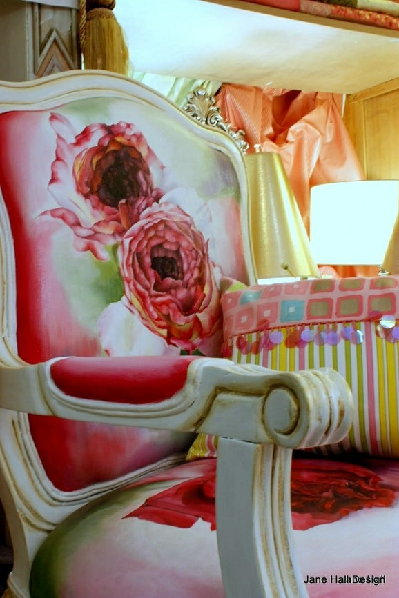 Hand painted chairs  Check out the webiste...This gal is very talented!