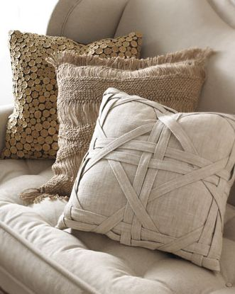 these pillows have so much fun texture!