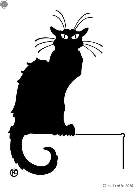 BLACK CAT DECAL : Toulouse Lautrec Black Cat (Steinlen). Paris Golden Age. Poster, painting, drawing