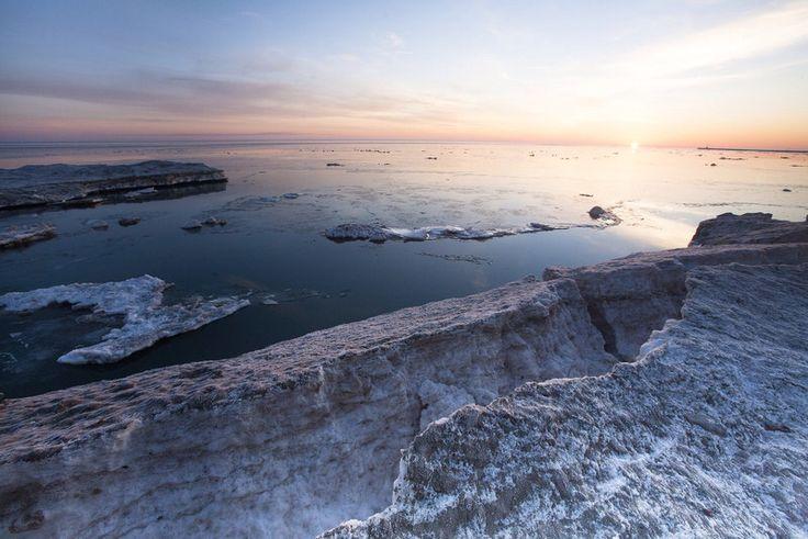 """WunderPhoto """"Sunrise at Montrose Beach"""" by billeguerriero, taken 3/12/15 in chicago, IL, US - found on Weather Underground App"""
