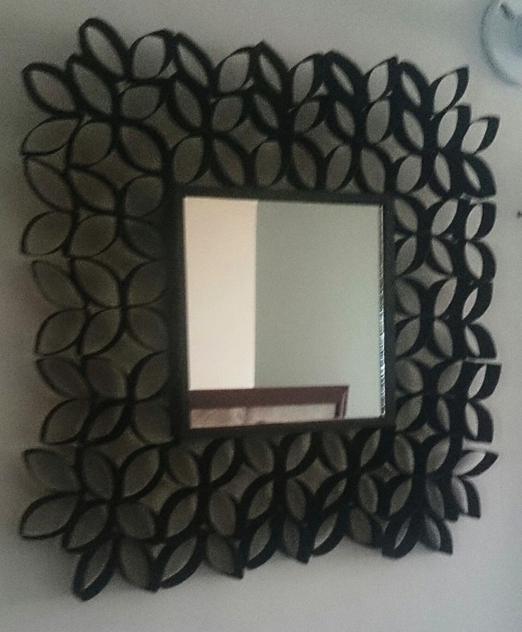Espejo reciclado hecho a mano pinterest - Espejo de papel ...