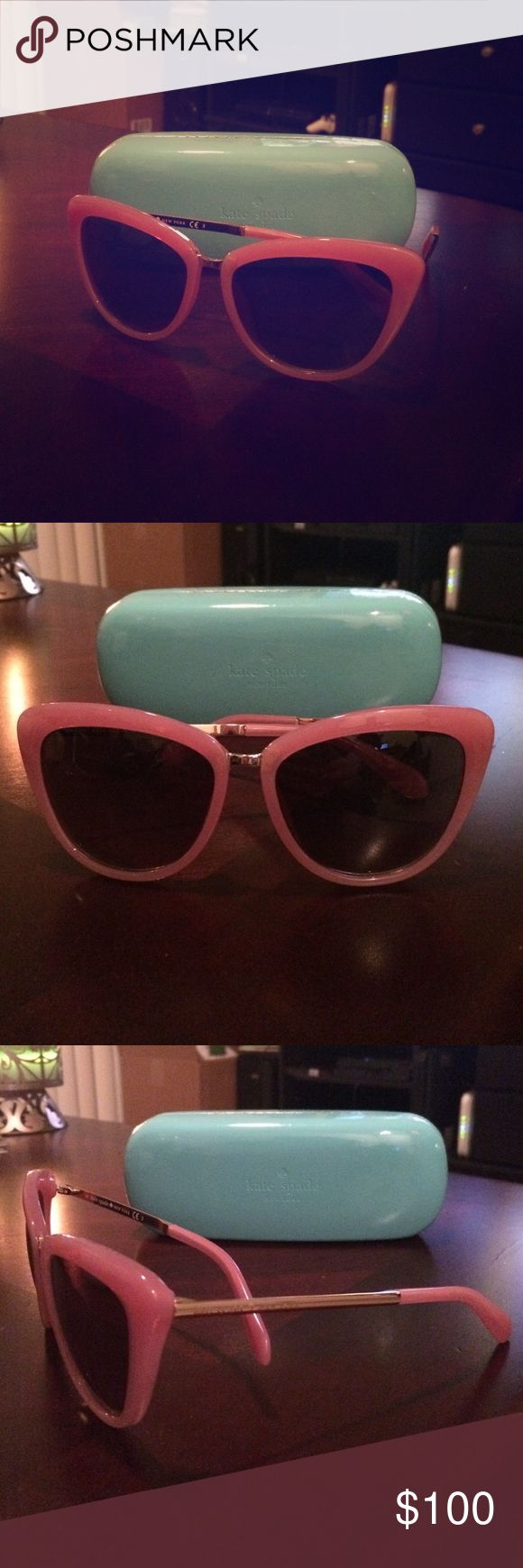 New Kate Spade Pink Cissy Sunglasses New Kate Spade Pink Cissy Sunglasses. Never worn, comes with case. kate spade Accessories Sunglasses