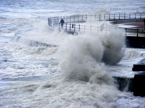 Stormy Seas, Scarborough, Nth Yorkshire - photo by Paul McGuire