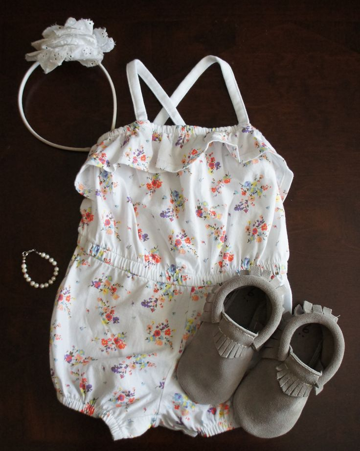 Baby girl summer outfit.
