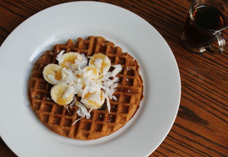 Coconut Spelt Waffles- Vegan | SoyandSugar.com