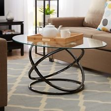 Contemporary Coffee Table Set 3 Piece Glass Sofa End Tables Modern Furniture #curves #dope