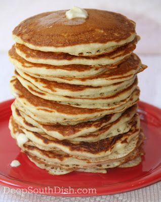 Made from Scratch Homemade Buttermilk Pancakes from Deep South Dish blog. My personal recipe for more than 30 years, these make simply perfect homemade buttermilk pancakes that I know you'll love.