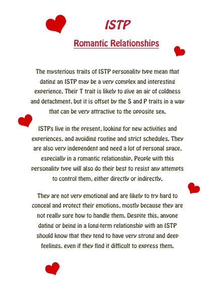 Istp dating tips