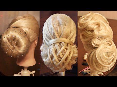 Подборка уроков - Причёски с использованием валиков (time 43:11) - YouTube