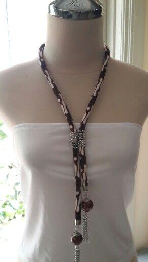 Indonesian batik Fabric necklace handmade