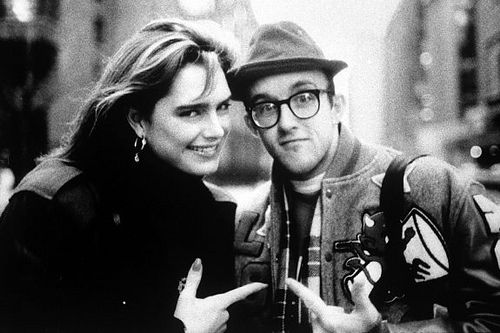 Brooke Shields and Keith Haring by klimari1 (JUST SHOOT IT! Photography), via Flickr