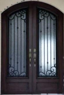Puertas principales de forja herreria y forja puertas for Modelos de puertas principales modernas