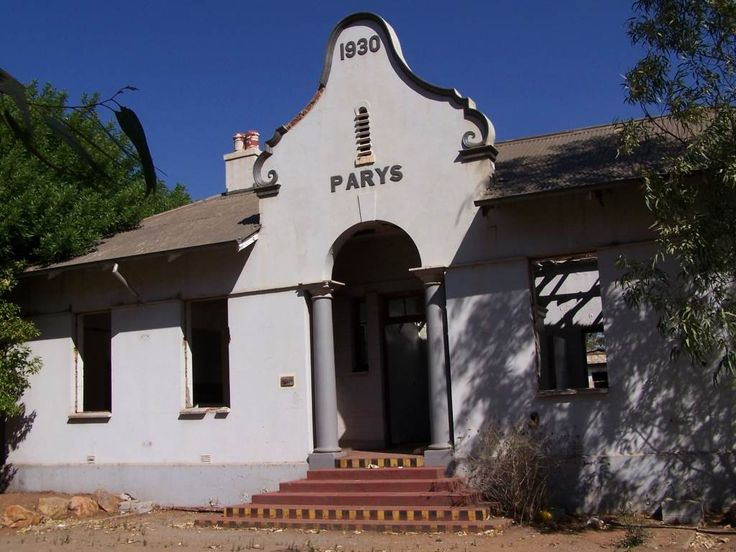 Parys railway station. The trains stopped running. It was a branch line connecting Vredefort, Parys to Dover station on the main line from Vereeniging to Kroonstad.